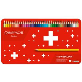 Caran d'Ache Swisscolor Pencils Tin Of 40 thumbnail