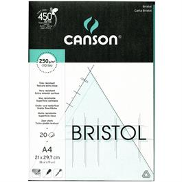 Canson Bristol Board Pads A4 210x297mm 250gsm thumbnail