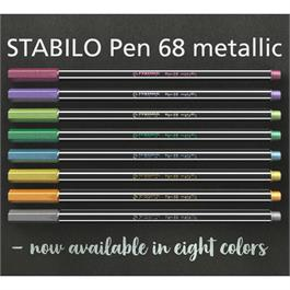 STABILO Pen 68 Metallic Pens Single Colours Thumbnail Image 3