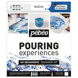 Pebeo Pouring Acrylic Discovery Kit 4 x 59ml & Silicone Oil thumbnail