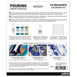 Pebeo Pouring Acrylic Discovery Kit 4 x 59ml & Silicone Oil Thumbnail Image 2