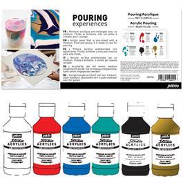 Pebeo Ready To Use Pouring Acrylic Set 6 x 118ml Thumbnail Image 1