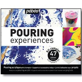 Pebeo Pouring Experience Complete Kit With 47 Pieces Thumbnail Image 1