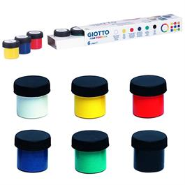 Giotto Poster Paint Set 6 x 18ml Pots Thumbnail Image 1