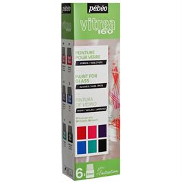 Pebeo Vitrea 160 Glossy Initiation Set 6 x 20ml No.2 Colours thumbnail