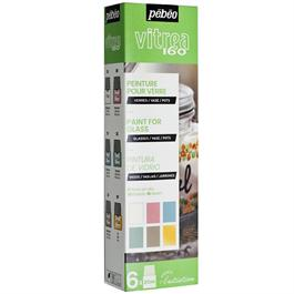Pebeo Vitrea 160 Pastel Initiation Set 6 x 20ml No.3 Colours thumbnail