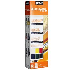 Pebeo Porcelaine 150 Glossy Initiation Set 6 x 20ml No.1 Colours thumbnail