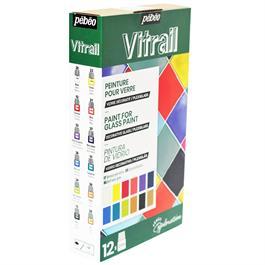 Pebeo Vitrail Explorer Set 12 x 20ml Thumbnail Image 1