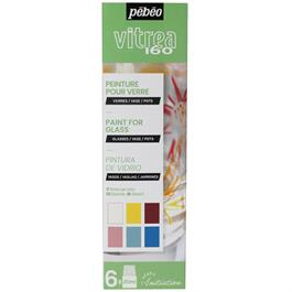 Pebeo Vitrea 160 Glossy Initiation Set 6 x 20ml No.1 Colours Thumbnail Image 1
