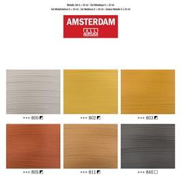 Amsterdam Acrylic Metallics 6x20ml Thumbnail Image 2
