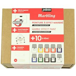 Pebeo Marbling Collection Set 10 x 45ml Thumbnail Image 1