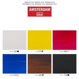 Amsterdam Acrylic Primary 6x20ml Thumbnail Image 2