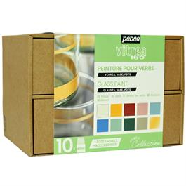 Pebeo Vitrea 160 Collection Set 10 x 45ml No.2 Colours thumbnail