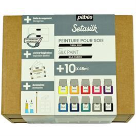 Pebeo Setasilk Collection Set 10 x 45ml Thumbnail Image 1
