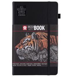 Sakura Sketchbook Black Paper 13x21cm thumbnail