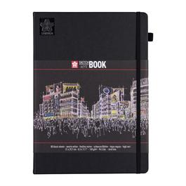 Sakura Sketchbook Black Paper 21x30cm (A4) thumbnail