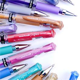 Uni-ball UM-153 Signo Broad Metallic Gel Pens Set Of 8 Thumbnail Image 4