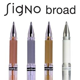 Uni-ball UM-153 Signo Broad Gel Rollerball Pens Single Colours Thumbnail Image 2