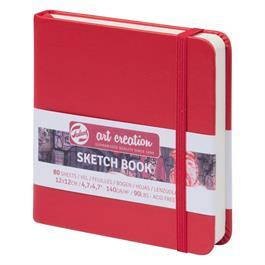 Sketchbook 12x12cm Red thumbnail