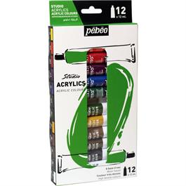 Pebeo Studio Acrylics Set of 12x12ml thumbnail