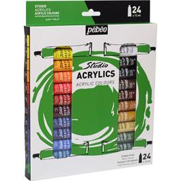 Pebeo Studio Acrylics Set of 24x12ml thumbnail