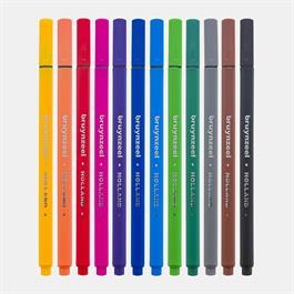 Bruynzeel Fineliner 12 Basic Colour Set Thumbnail Image 2