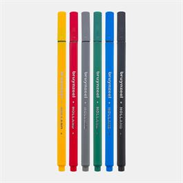 Bruynzeel Fineliner Basic 6 Colour Set Thumbnail Image 2
