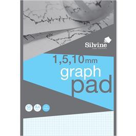 A4 Silvine Professional Graph Pad 1, 5 & 10mm thumbnail