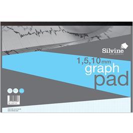 Silvine Professional Graph Pads 1, 5 & 10mm Grid Thumbnail Image 2