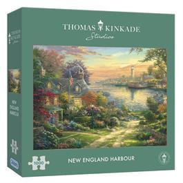 New England Harbour 1000 Piece Jigsaw Puzzle (Kinkade) Thumbnail Image 0
