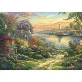New England Harbour 1000 Piece Jigsaw Puzzle (Kinkade) Thumbnail Image 1