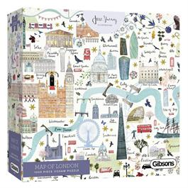 Map Of London Jigsaw 1000pc thumbnail