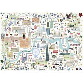 Map Of London Jigsaw 1000pc Thumbnail Image 1