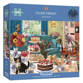 Feline Frenzy Jigsaw 1000pc Thumbnail Image 0