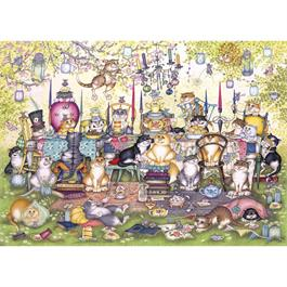 Mad Catter's Tea Party Jigsaw 1000pc Thumbnail Image 1