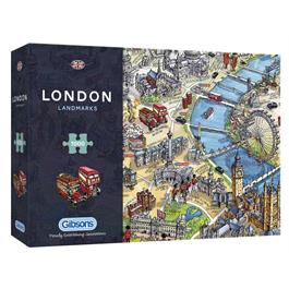 London Landmarks Jigsaw 1000pc thumbnail
