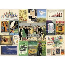 TFL Heritage Posters Jigsaw 1000pc Thumbnail Image 1