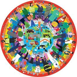 Rainbow Heroes 500 Piece Jigsaw Puzzle (CIRCULAR) Thumbnail Image 1