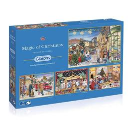 Magic of Christmas 4 x 500 Piece Jigsaw Puzzle Thumbnail Image 0