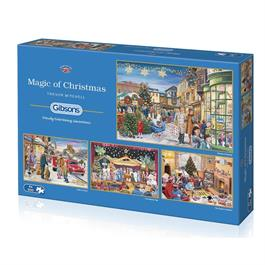 Magic of Christmas 4 x 500 Piece Jigsaw Puzzle Thumbnail Image 1