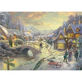 Snowfall at Sundown Jigsaw 1000 pieces ( Thumbnail Image 1