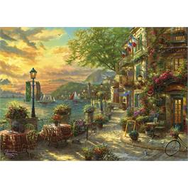 French Riviera Cafe Jigsaw 1000 pieces ( Thumbnail Image 1