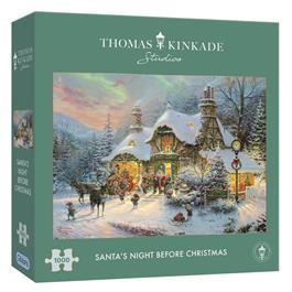 Santa's Night Before Christmas Jigsaw 1000pc (Kinkade) Thumbnail Image 0