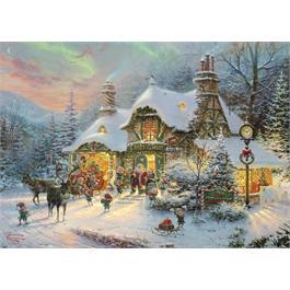 Santa's Night Before Christmas Jigsaw 1000pc (Kinkade) Thumbnail Image 1