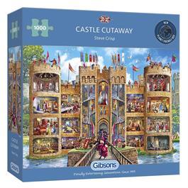 Castle Cutaway Jigsaw 1000pc Thumbnail Image 0