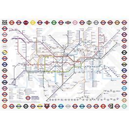 TFL London Underground Map Jigsaw 1000pc Thumbnail Image 1