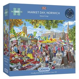 Market Day Norwich Jigsaw 1000pc Thumbnail Image 0