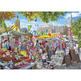 Market Day Norwich Jigsaw 1000pc Thumbnail Image 1