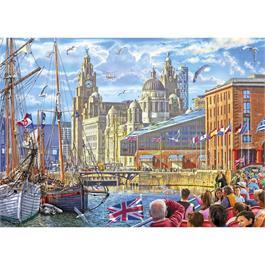 Albert Dock Liverpool Jigsaw 1000pc Thumbnail Image 1