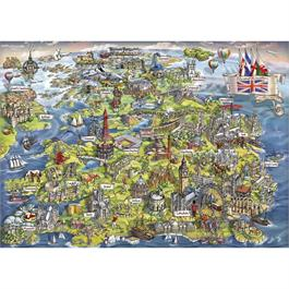 Beautiful Britain Jigsaw 1000pc Thumbnail Image 1